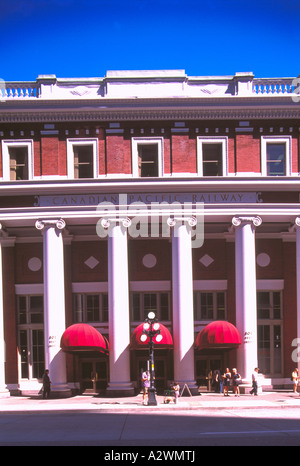 Waterfront Station, Vancouver, BC, British Columbia, Canada, Summer - Historic Canadian Pacific Railway (CPR) Station - Stock Photo
