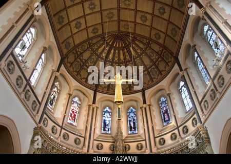 Interior of the Catholic Church of St Aloysius Gonzaga Oxford 4 - Stock Photo