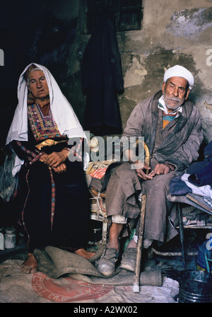 A brother and sister who have lived in Beach camp since its inception  in the early 1950s, Beach (Shatti) refugee - Stock Photo