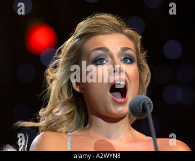Katherine Jenkins in concert - Stock Photo