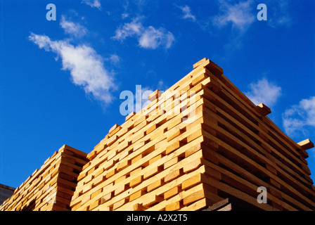 Australia. Saw mill. Close-up of stack of sawn wood planks. - Stock Photo