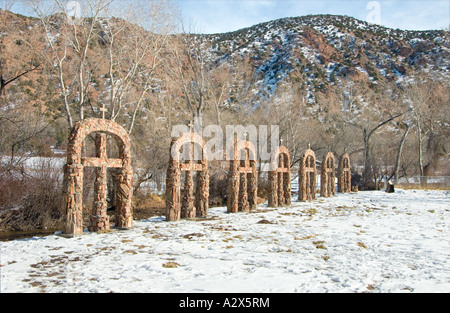 Sanctuary at Chimayo, New Mexico at Christmas 6 - Stock Photo
