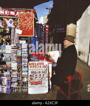Street Trader Near Piccadilly Circus London - Stock Photo