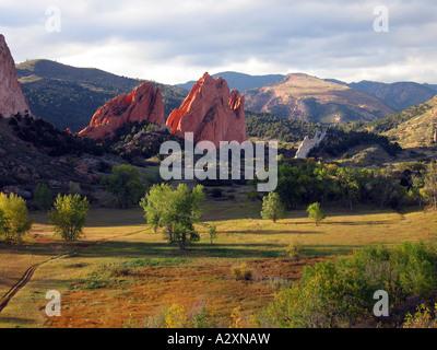 Rock Formations At Garden Of The Gods, Colorado Springs, Colorado, USA - Stock Photo