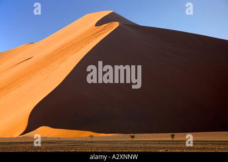 Dune  in sossusvlei Namib desert Namibia - Stock Photo
