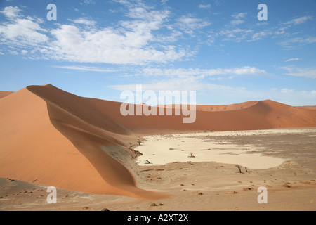 Hidden Vlei in sossusvlei Namib desert Namibia - Stock Photo
