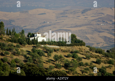 Villa set in the Andalucian hill, not far from  Ronda - Stock Photo