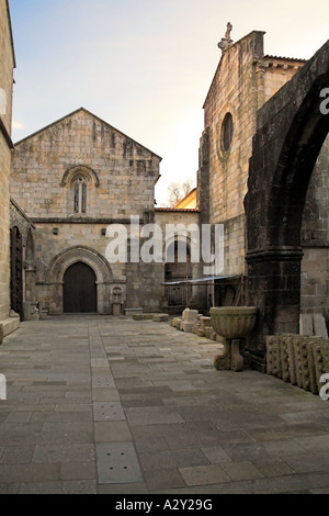 Braga's Cathedral, the most ancient of all cathedrals in Portugal. Interior courtyard. - Stock Photo