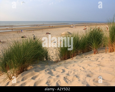 france nord picardy pas de calais opal coast cotes d opale holiday resort of bray dunes - Stock Photo