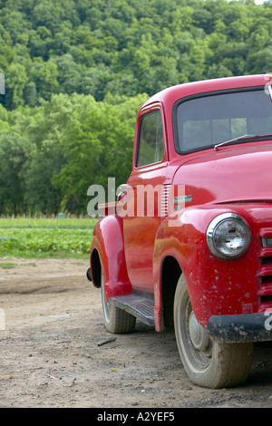 Red 1950 S Chevrolet Model 3100 Stepside Pickup Truck