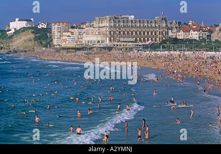 the grand plage and the casino biarritz france stock photo royalty free image 79915512 alamy. Black Bedroom Furniture Sets. Home Design Ideas