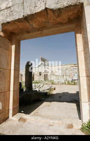 Basilica of St Simeon, Qalaat Samaan, Syria, Middle East - Stock Photo