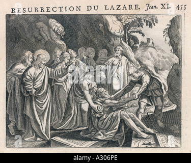 Jesus Raises Lazarus - Stock Photo