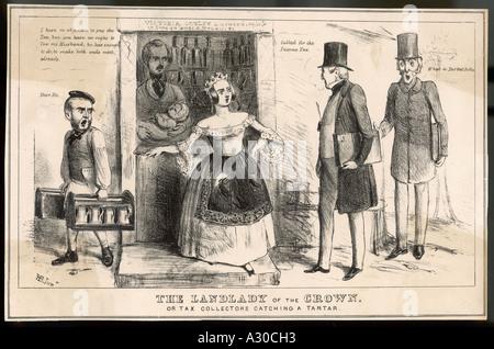 Queen Victoria Taxed - Stock Photo