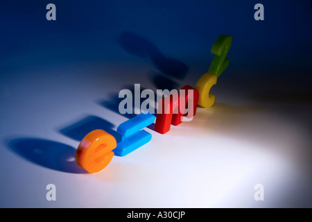 e mc2 theory of relativity formula spelt out with childrens fridge magnet letters and numbers - Stock Photo