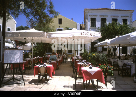 Taverna Restaurant Fiskardo Kefalonia Greece - Stock Photo