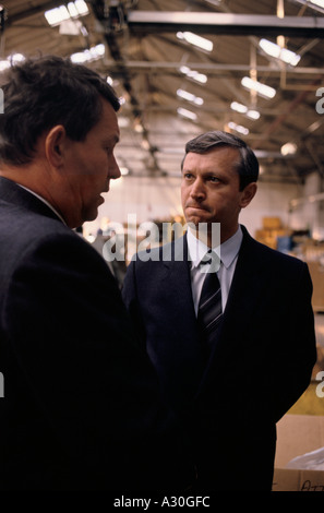 soviet business scientists and managers visiting british industry to learn management and production techniques - Stock Photo