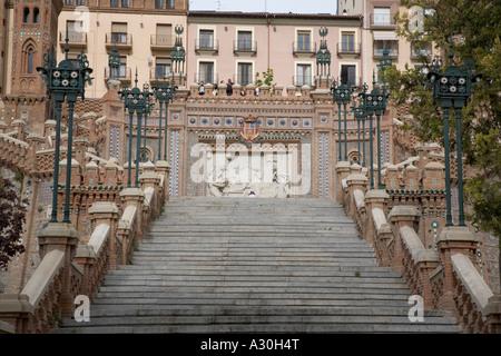 La Escalinata in Teruel Aragon region Spain - Stock Photo