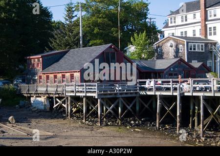 Cod End Restaurant in Tenants Harbor, ME - Stock Photo