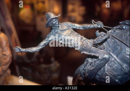 statue cowboy metal