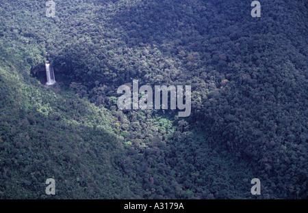 Waterfall in Amazon rainforest Brazil. - Stock Photo
