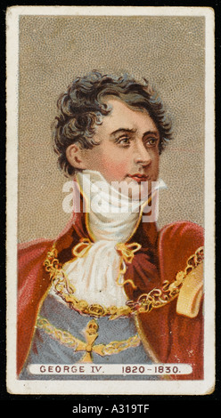 George Iv Cig Card - Stock Photo