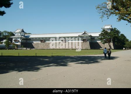 Gojukken Nagaya storehouse. Kanazawa castle. Kanazawa. Japan - Stock Photo