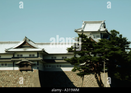 Hishi Yagura turret. Kanazawa castle. Kanazawa. Japan - Stock Photo