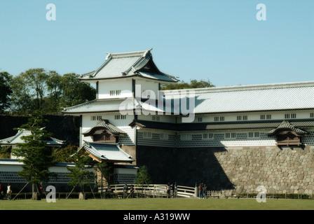 Hashizume mon Tsuzuki Yagura turret. Kanazawa castle. Kanazawa. Japan - Stock Photo