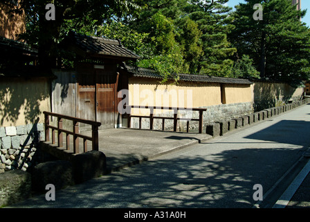 Old samurai's houses at Nagamachi district. Kanazawa. Ishikawa Prefecture. Japan - Stock Photo