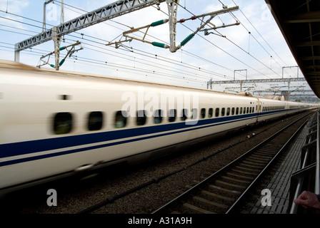 Shinkansen (bullet train). Odawara JR Station. Odawara. Kanagawa Prefecture. Japan - Stock Photo