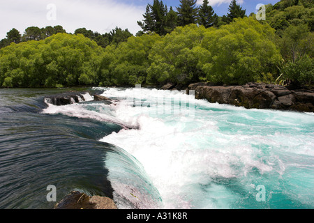 Huka Falls near to Taupo on the North Island, New Zealand. - Stock Photo