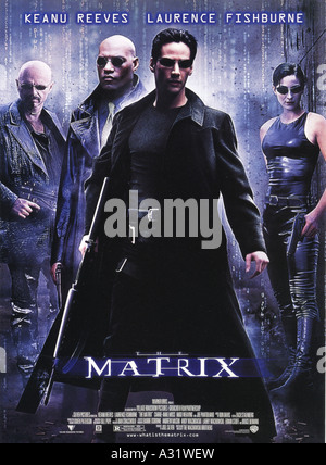 THE MATRIX poster for 1999 Warner film with Keanu Reeves - Stock Photo