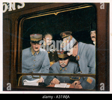 Foch Accepts German Surrender - Stock Photo
