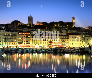 FR - COTE D'AZUR: Cannes by night - Stock Photo