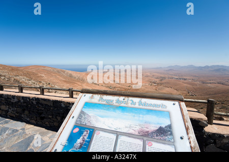 Viewpoint over a typical landscape in Betancuria Rural Park, Fuerteventura, Canary Islands, Spain - Stock Photo