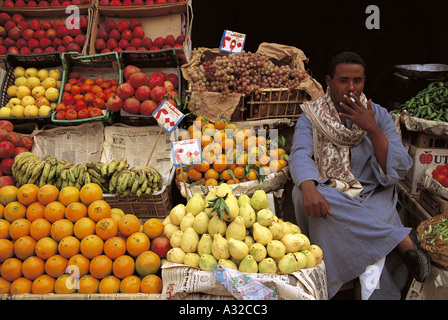 Fruit vegetable stall - Stock Photo