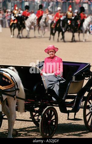 Trooping the Colour, Buckingham Palace, London, United Kingdom - Stock Photo