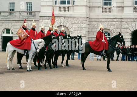 The Household Cavalry, Changing of the Guard, Buckingham Palace, London, United Kingdom - Stock Photo