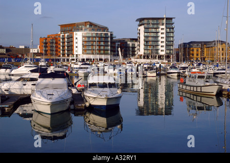 Ocean Village Marina, Southampton, Hampshire, England, UK, GB. - Stock Photo