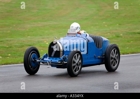 1927 Bugatti Type 35B during the Brooklands Trophy race at Goodwood Revival, Sussex, UK. - Stock Photo
