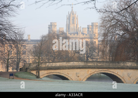 Trinity College bridge and Johns college, Cambridge 'Cambridge University' - Stock Photo