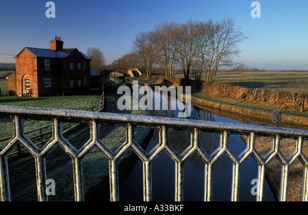 Oxford Canal, Northants, England - Stock Photo