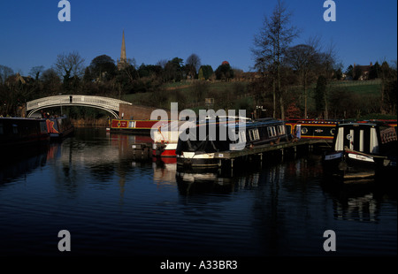 Braunston Marina, Northamptonshire, England - Stock Photo