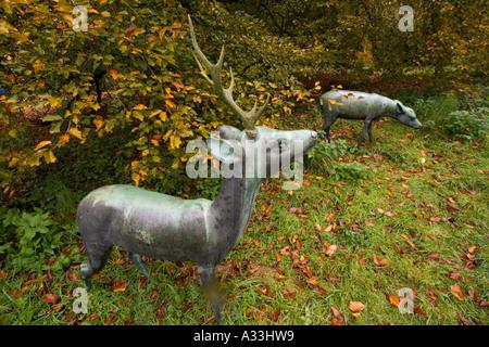 Batsford Arboretum, near Moreton in Marsh, Gloucestershire, England - Stock Photo