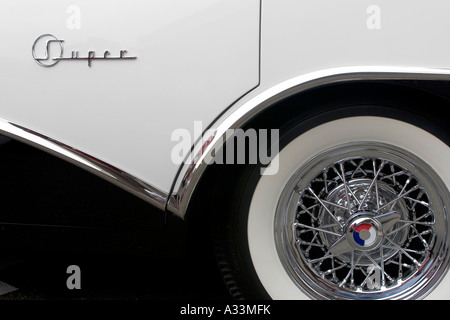 Abstract detail of a classic 1956 Buick Super automobile. - Stock Photo
