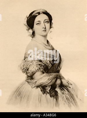 H M Queen Victoria, 1819-1901. Portrait from 1855. - Stock Photo