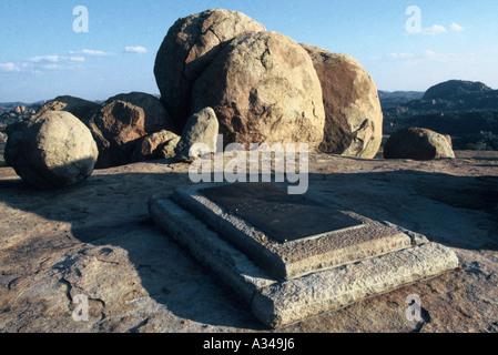 Rhodes Grave 'Malindidzimu', the dwelling place of the Spirits - Stock Photo