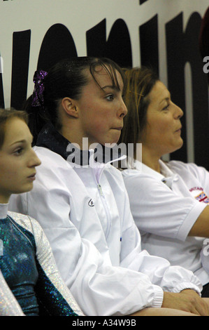 elizabeth tweddle british number one female gymnast - Stock Photo