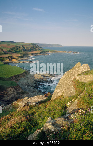 View south east from Prawle Point South Devon England UK - Stock Photo